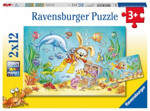 Ravensburger 76031 Puzzle: Tauchabenteuer 2x12 Teile