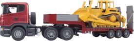 Bruder 03555 Scania R-Serie LKW mit Tieflader