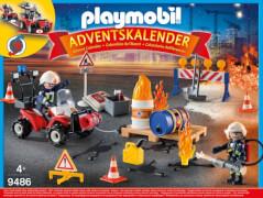 Playmobil 9486 Adventskalender ''Feuerwehreinsatz auf der Baustelle