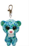 Ty Clip - Glubschi's Beanie Boo's - Leopard Leona mit Glitzeraugen - blau / gr