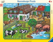Ravensburger 66186 Rahmenpuzzle Tierfamilien, 33 Teile