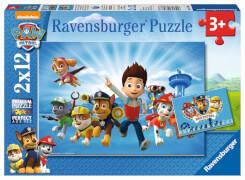 Ravensburger 07586 Puzzle: Ryder und die Paw Patrol 2x12 Teile