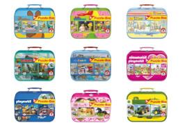Schmidt Spiele Puzzle Puzzle-Box im Metallkoffer, 26 Teile