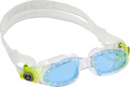 Schwimmbrille Small Moby Kid, transparent/lightgreen getönt