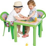Kindertisch grün mit Aufdruck