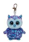 Ty Clip - Glubschi's Beanie Boo's - Eule Oscar Glitzeraugen -  blau 8,5 cm